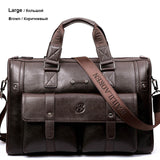 The Madison Ave - Large Leather Messenger Briefcase Bag for Men from Manly Packs