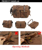 The Normandy - Large Rugged Canvas Tactical Messenger Bag for Men (Multiple Colors)
