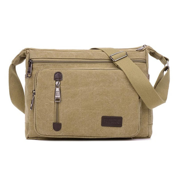 The Rebel - Men's Travel-Friendly Small Canvas Messenger Bag
