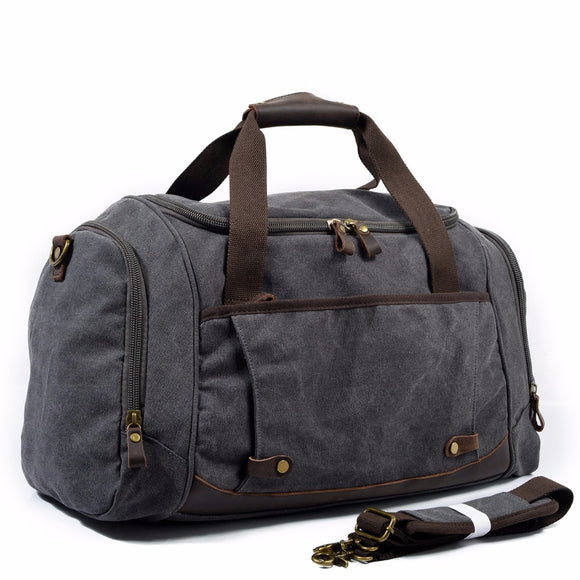 The Durham Duffel - Men's Rugged Canvas Travel Bag with Shoe Pocket from Manly Packs