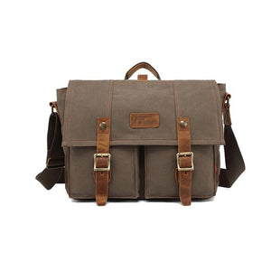 The Navajo Messenger - Rugged Canvas Crossbody Messenger Bag for Men from Manly Packs