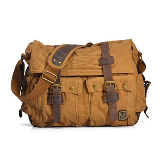 a95fc11490d2 ... The Normandy - Large Rugged Canvas Tactical Messenger Bag for Men  (Multiple Colors)