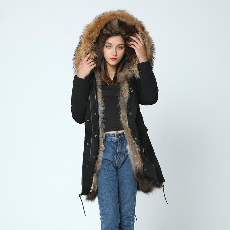 Parka - Raccoon Fur Collar and Fox Fur Liner