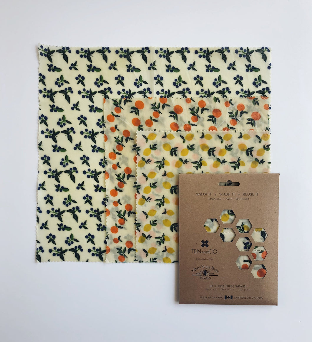 Beeswax Wraps - Vintage Fruit