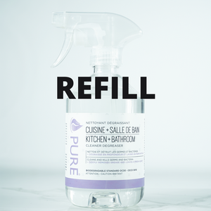 Kitchen & Bathroom Cleaner - PURE - REFILL JAR