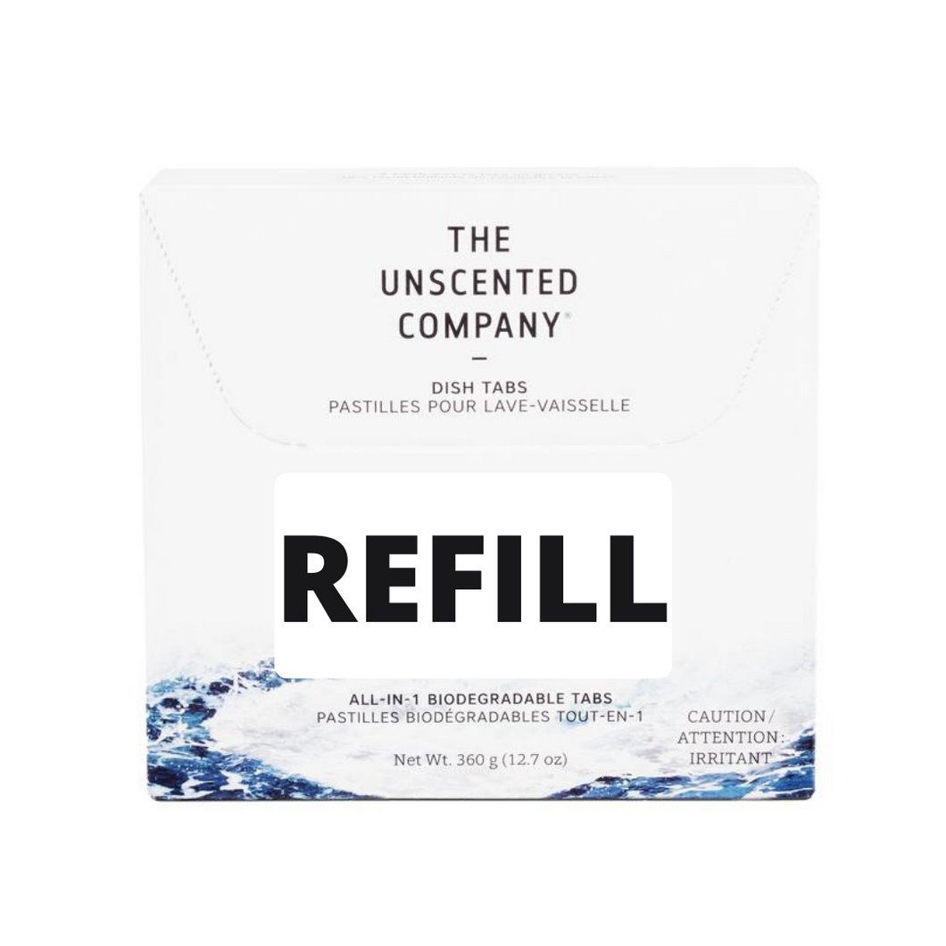Dishwasher Tabs - The Unscented Company - REFILL JAR