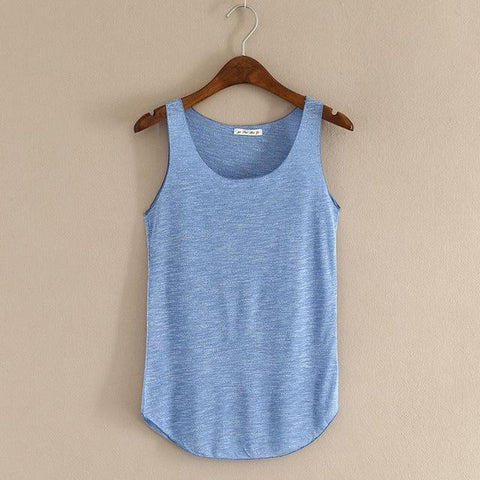 Neck Loose Tank Tops