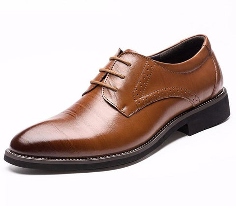 Men's Luxury Leather Shoes Lace-Up - Oxford Style