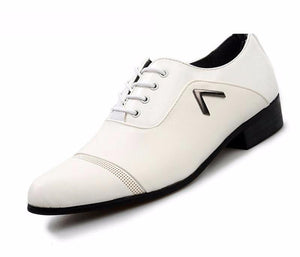 White or Black Oxford Style Dress Shoe