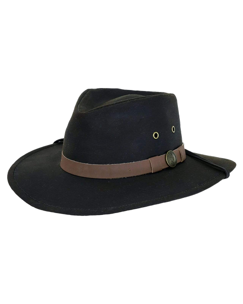 Kodiak all weather Oilskin Canvas Hat / chinstrap. Outback Favourite