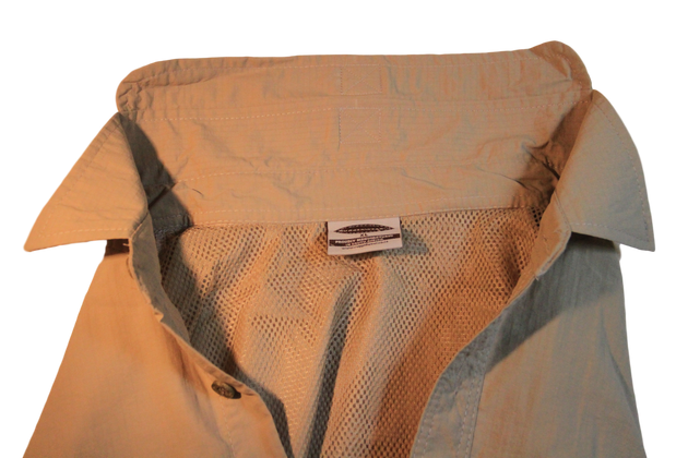 Nylon Vented Long Sleeve Fishing Shirt. Great for Hot humid conditions Made in South Africa