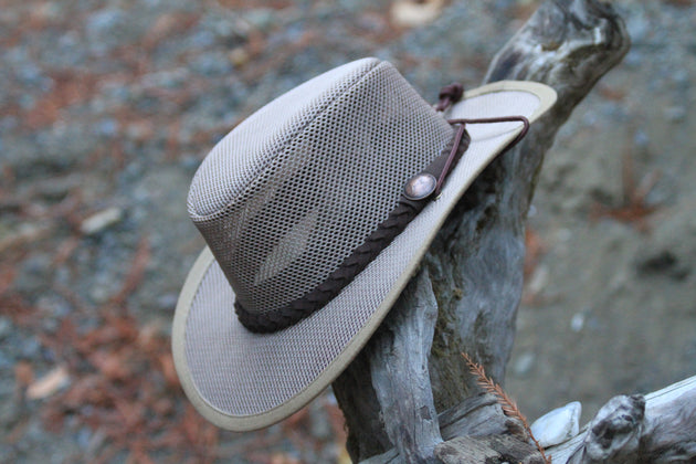 Fishing Hat - YES, it FLOATS! Cool Soakable UV Mesh Hat. Lifetime Warranty
