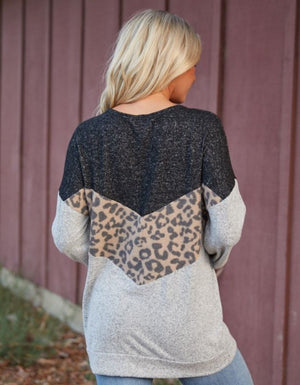 Pop Of Leopard Sweater