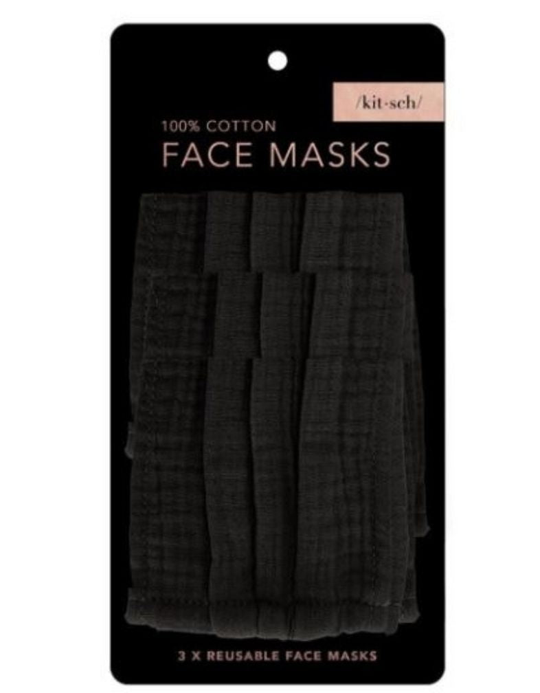 Cotton Mask-3 PCS Black