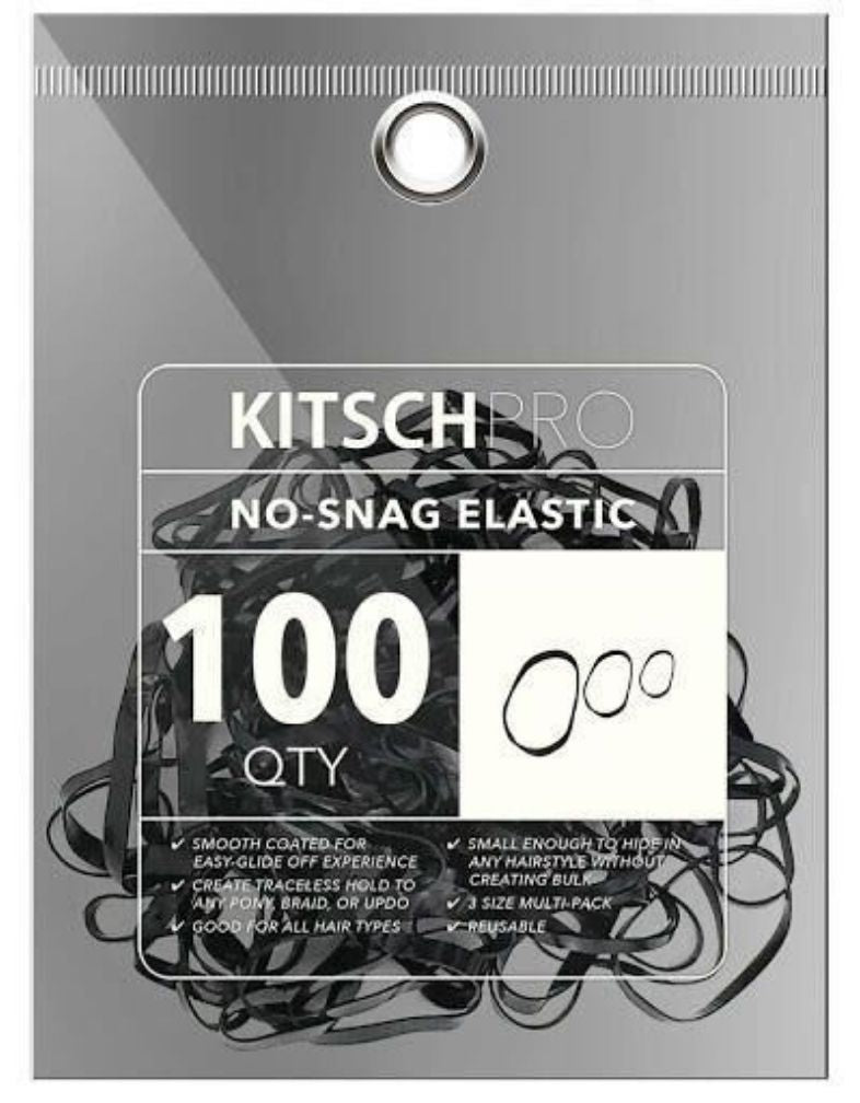 No Snag Elastics-Black