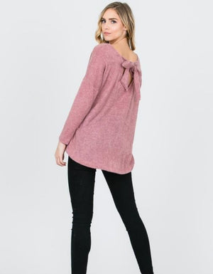 The Bella Bow Back Sweater