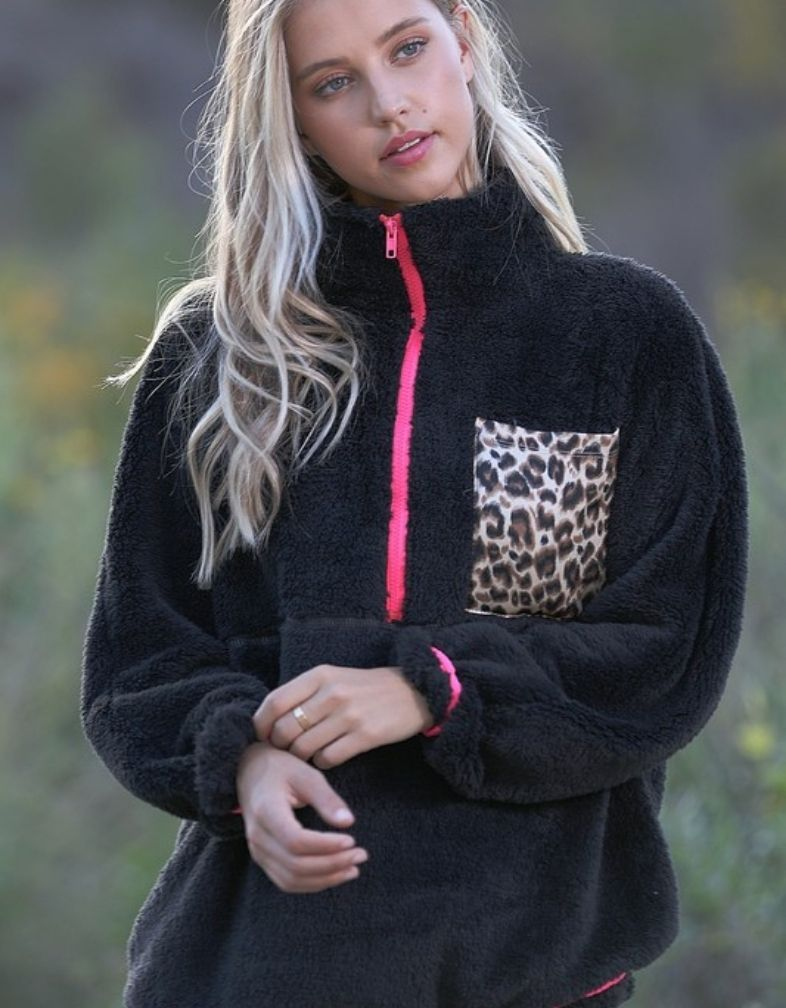 Let It Snow Leopard Pullover