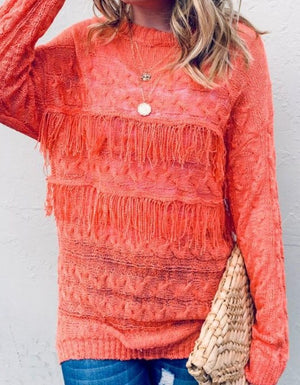 The Frances Fringe Sweater