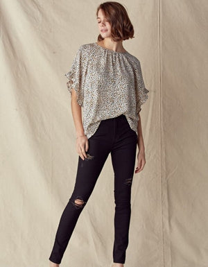 City Lights Leopard Blouse