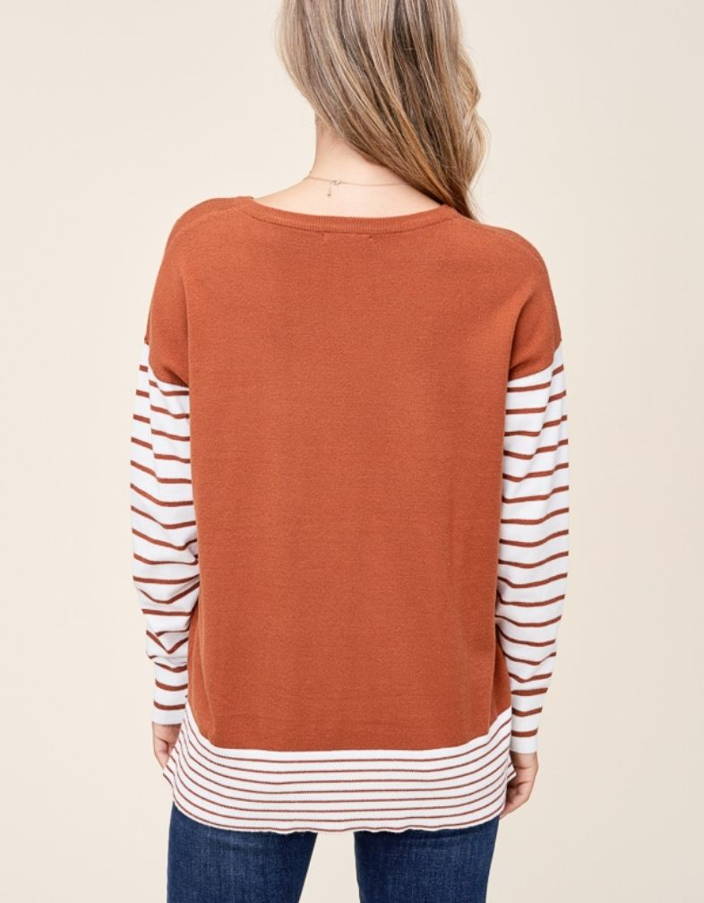 Love Language Stripe Sweater