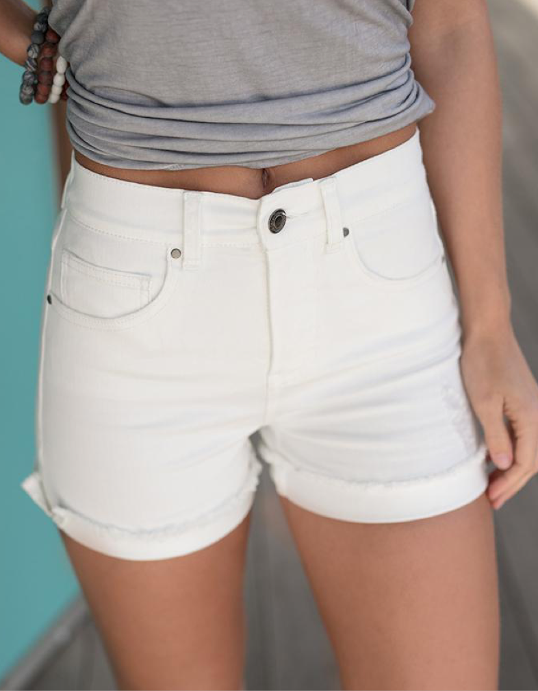 The Beverly Short-White
