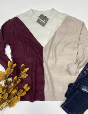 The Carly Colorblock Sweater