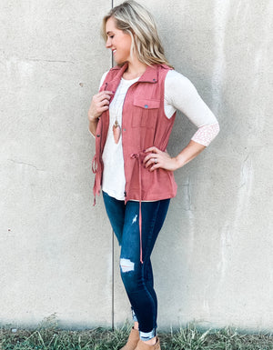 The Bethany Blush Vest