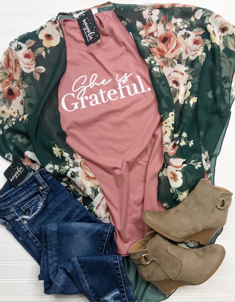 She Is Grateful Tee