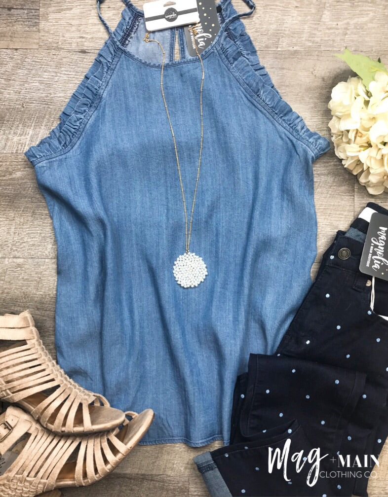 The Charlotte Chambray Top