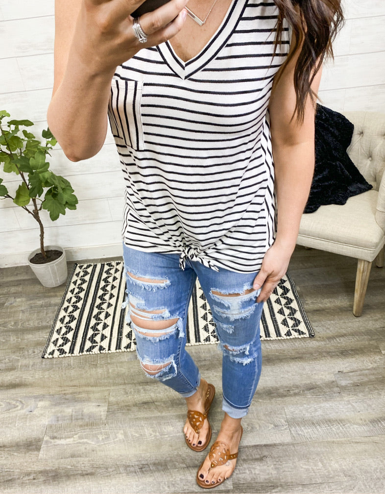 The Sabrina Stripe Tank