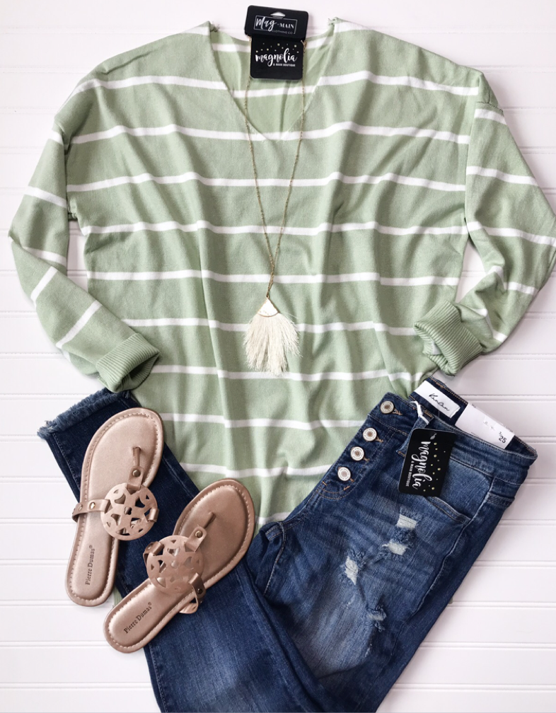 The Butter Stripe Spring Sweater