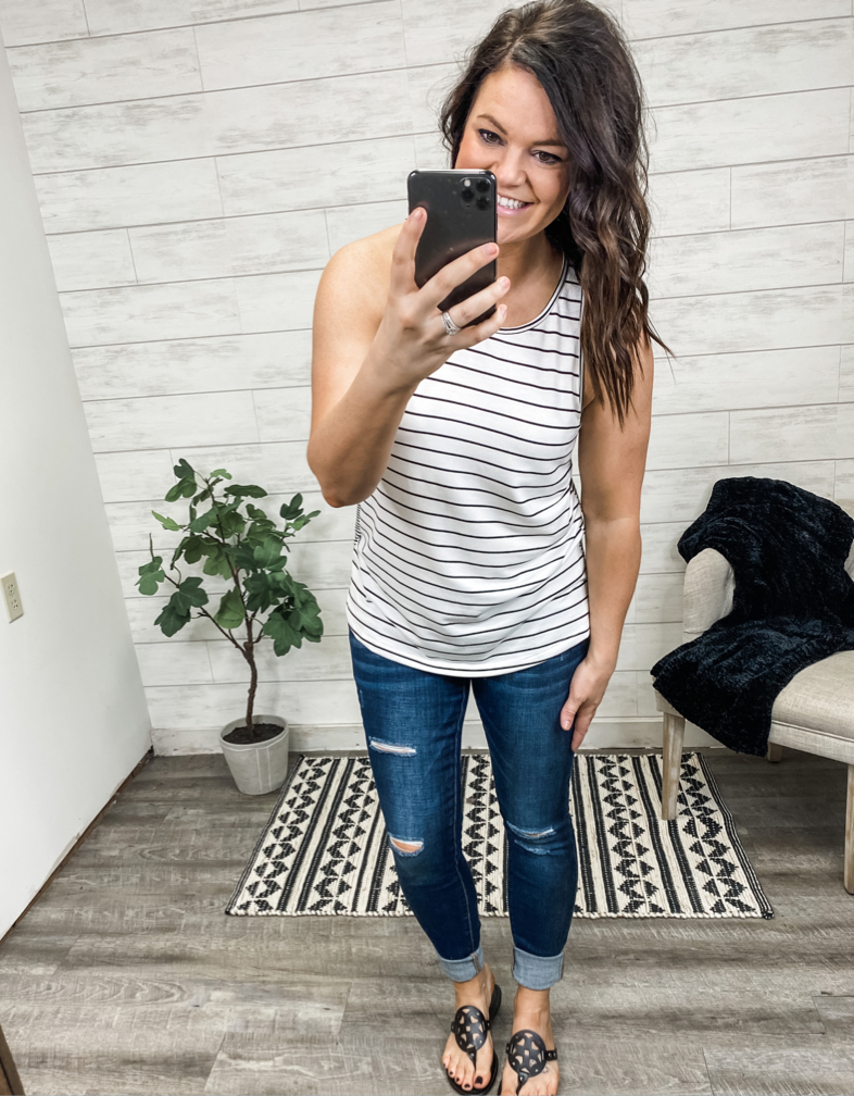 The Bianca Button Tank