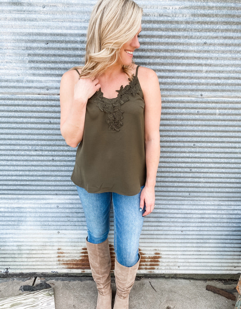 The Logan Lace Tank