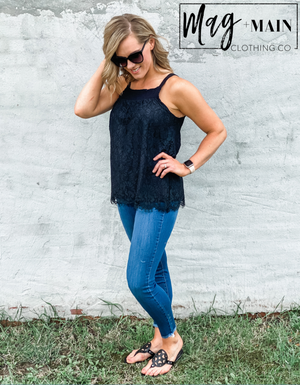 The Lydia Lace Tank