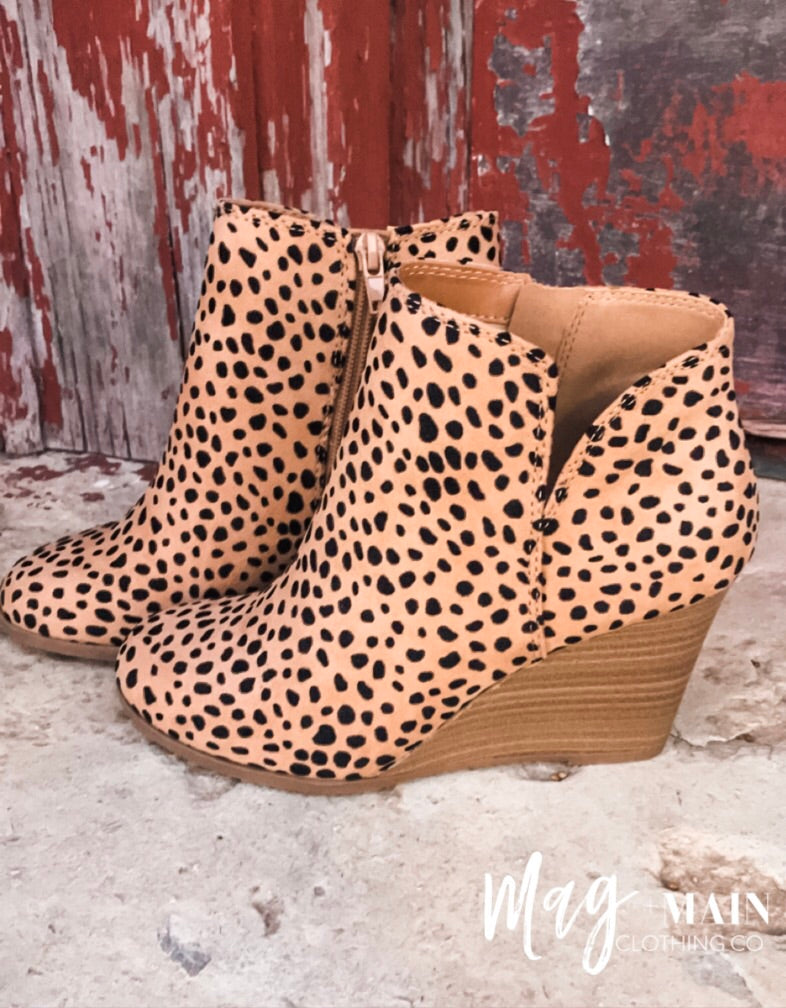 Known By All Cheetah Wedge