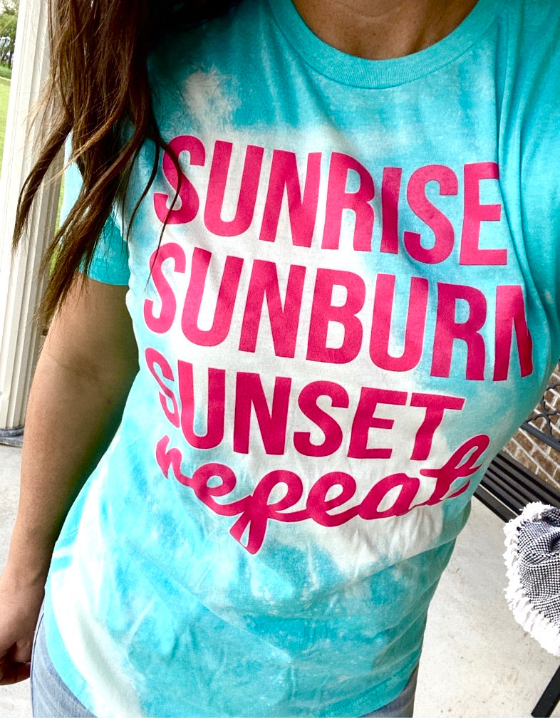 Sunrise, Sunburn, Sunset Tee