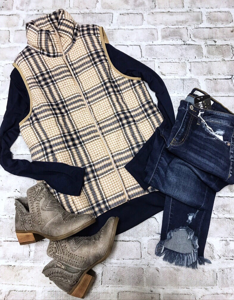 Park City Plaid Vest