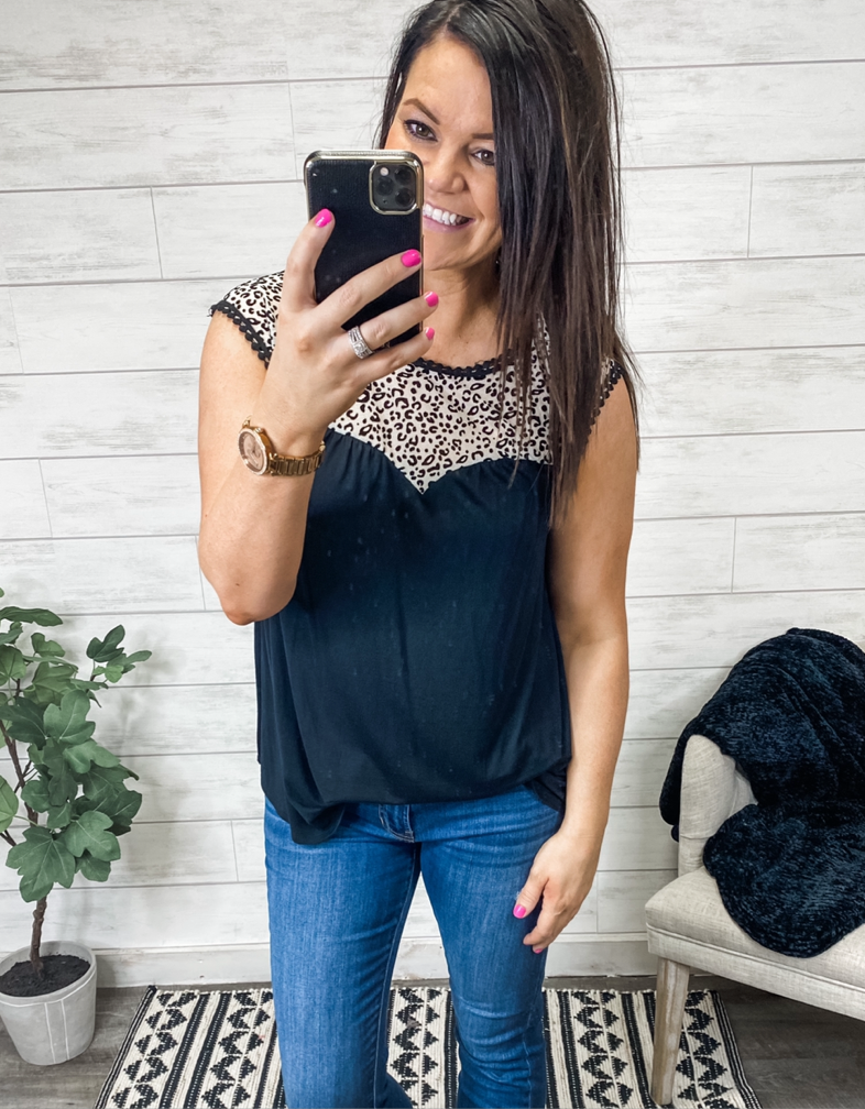 The Lorelei Leopard Top
