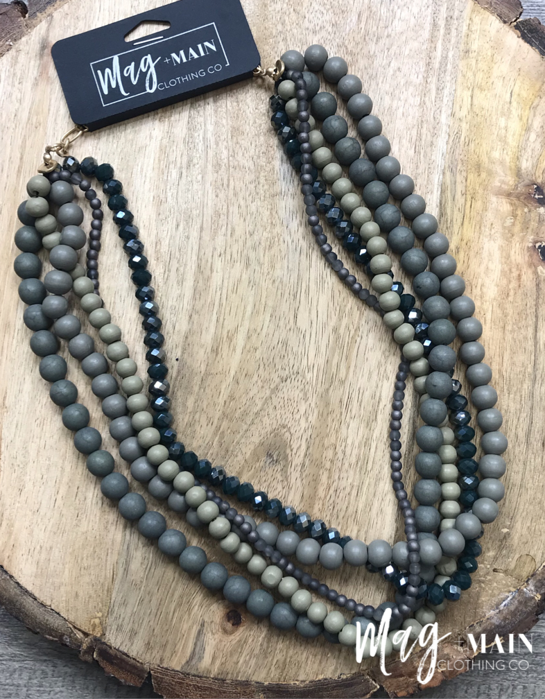 The Bonnie Beads-Olive