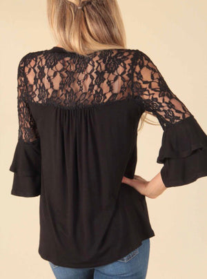 Let It Be Lace Top