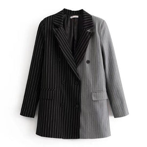 "The ""Manhattan"" Pinstripe Splice Blazer"