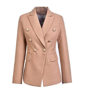 "The ""Priscilla"" Slim Fit Blazer - Camel"