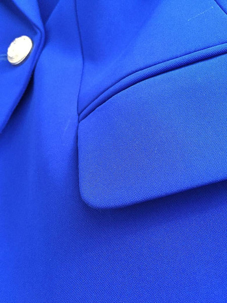 "The ""Priscilla"" Slim Fit Blazer - Cobalt"
