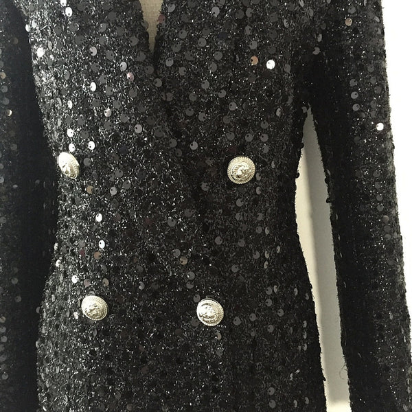 "The ""Juliette"" Sequin Long Tail Blazer"