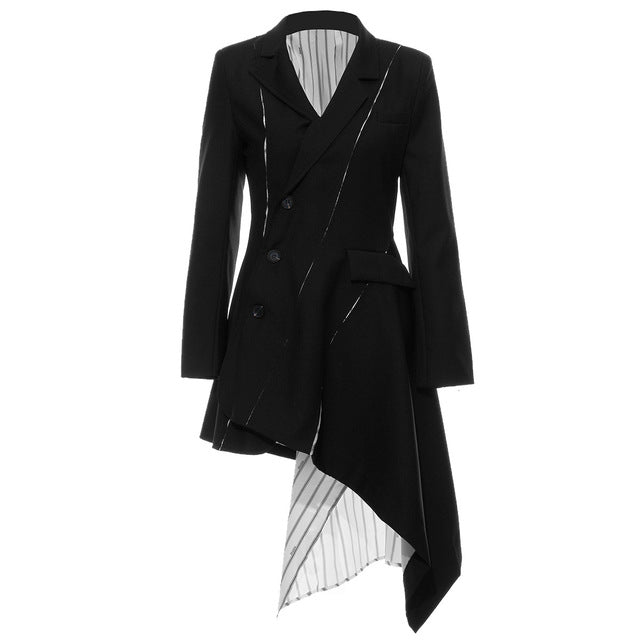"The ""Claudette"" Splice Long Tail Blazer"