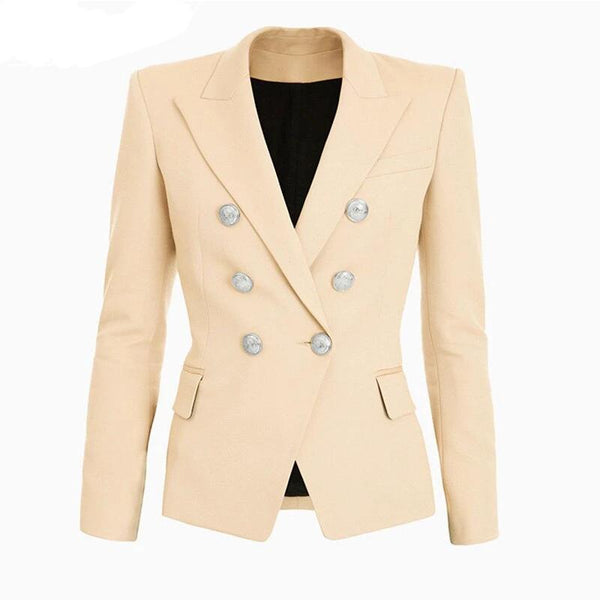"The ""Priscilla"" Slim Fit Blazer - Sand"
