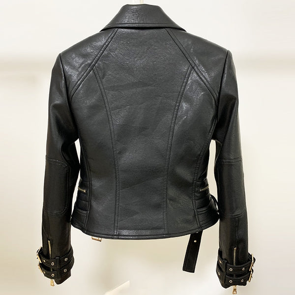 "The ""Nala"" Faux Leather Moto Jacket - Multiple Colors"