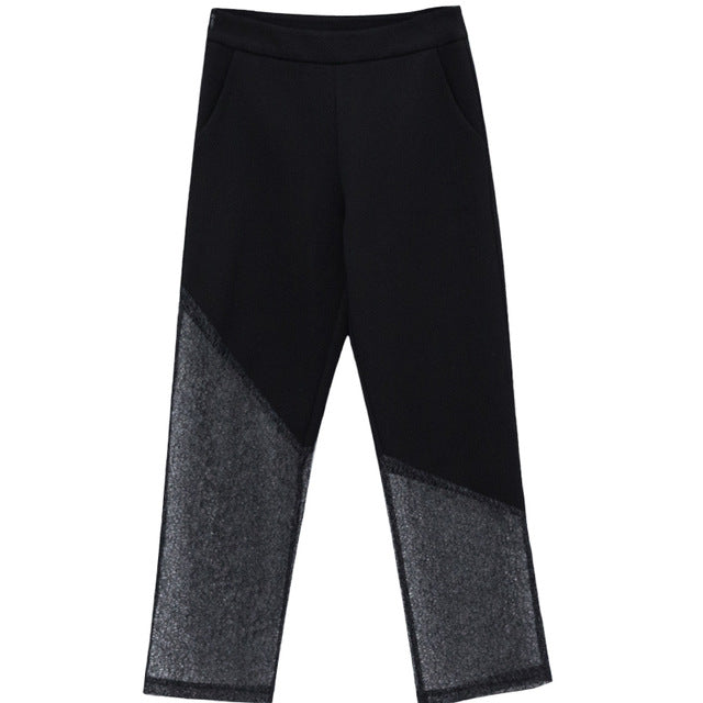"The ""Monika"" High Waist Splice Trousers"
