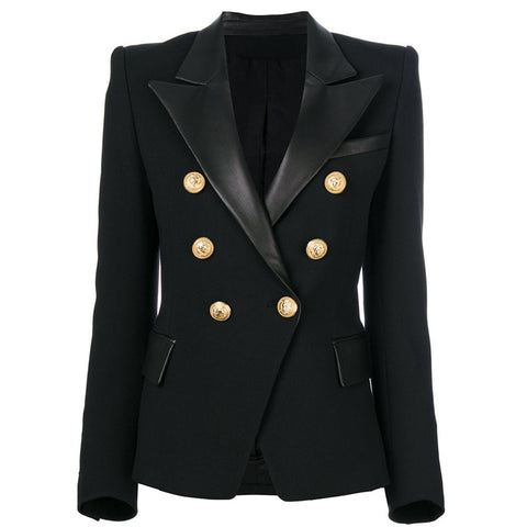 "The ""Annette"" Faux Leather Blazer"