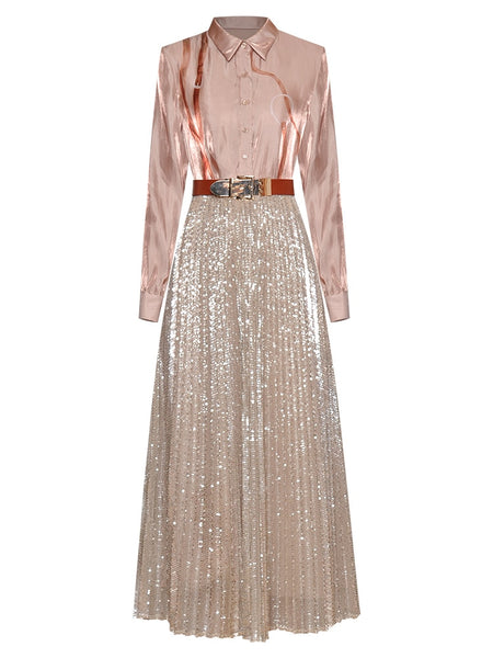 "The ""Elle"" Long Sleeve Sequin Dress"